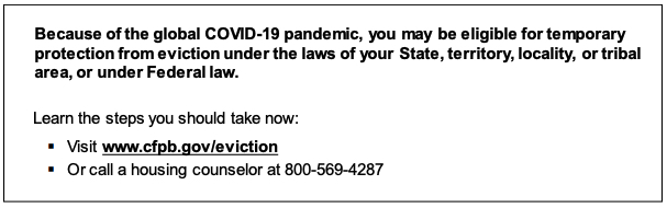 cfpb rule-eviction-notice-sample-disclosure-language-2